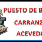 CARRANZA ACEVEDO- PUESTO DE BOLSA -BAGSA